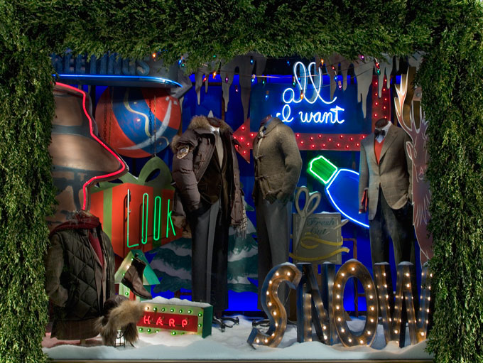 Bergdorf Goodman Christmas Display Signage